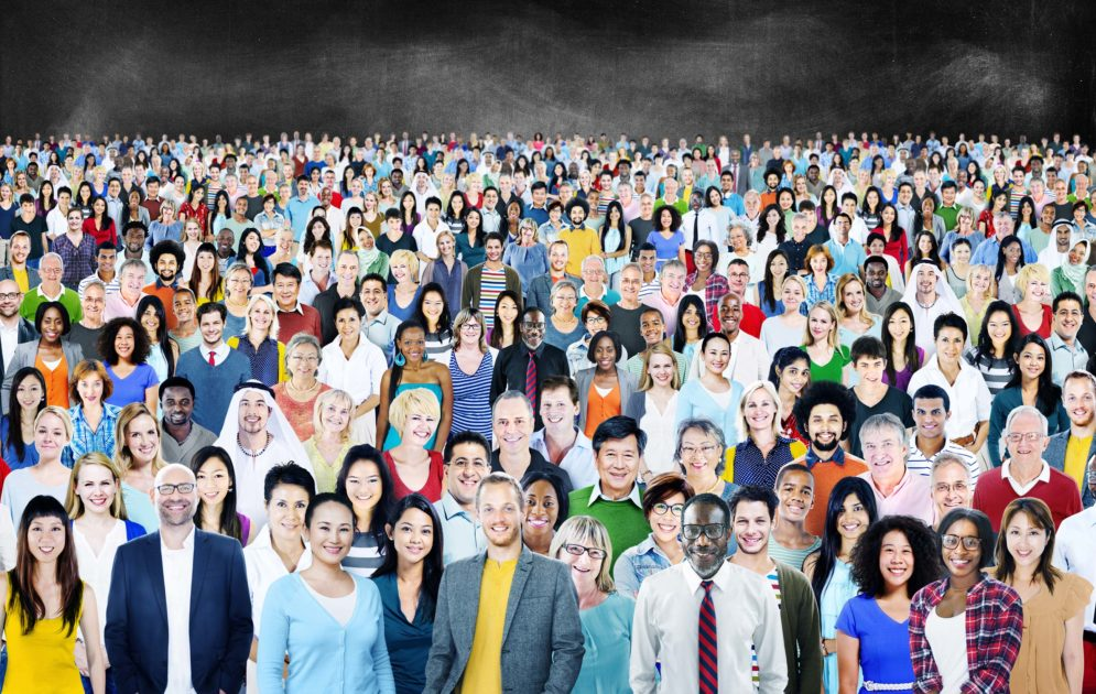 image of a crowd of people of all different generations