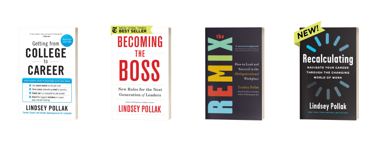 Author Lindsey Pollak's four books
