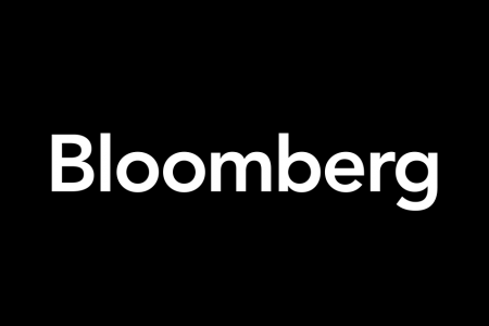 black rectangle with Bloomberg wordmark in white text