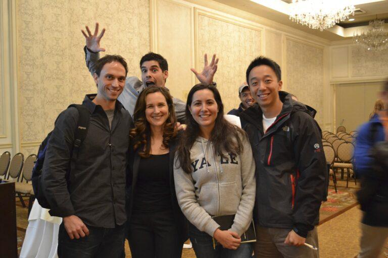 Lindsey Pollak with Yale University students